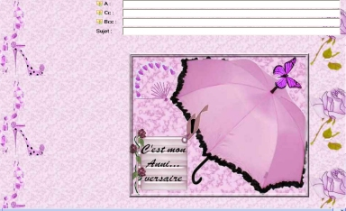 papier anniv rose chic