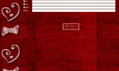 papier fond rouge coeur rose