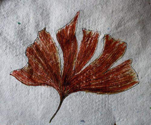 dessin sur papier recyclé