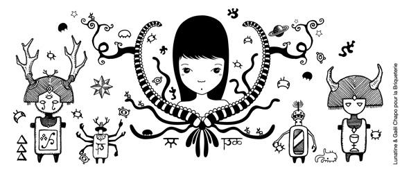 Illustration: Lunatine & Gaël Chapo pour la Briqueterie