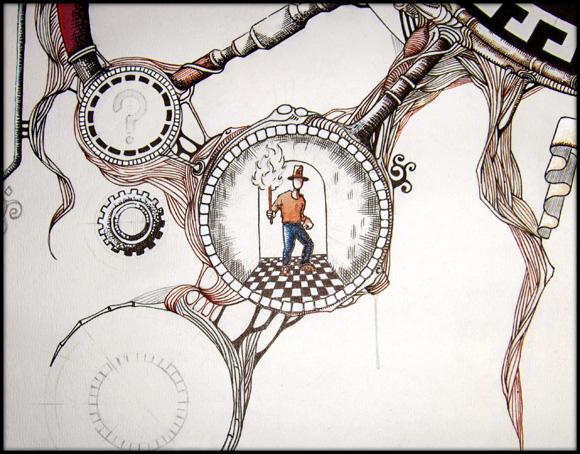 Dessin en cours de réalisation - avril 2011