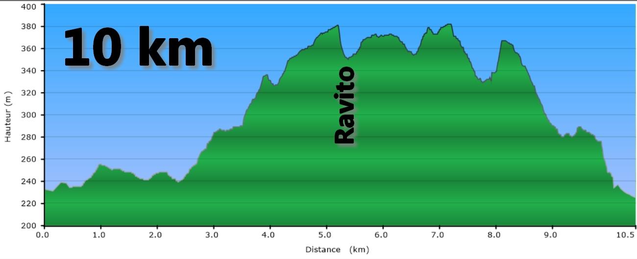 profil 10 km trail des monts de Gy