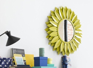Miroir fleur en métal