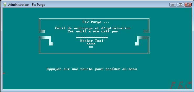 Tuto  Fix-Purge Fix-Purge_Accueil