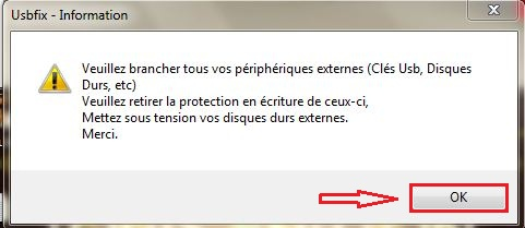 Comment supprimer les virus MSN ? UsbFix_Confirmation