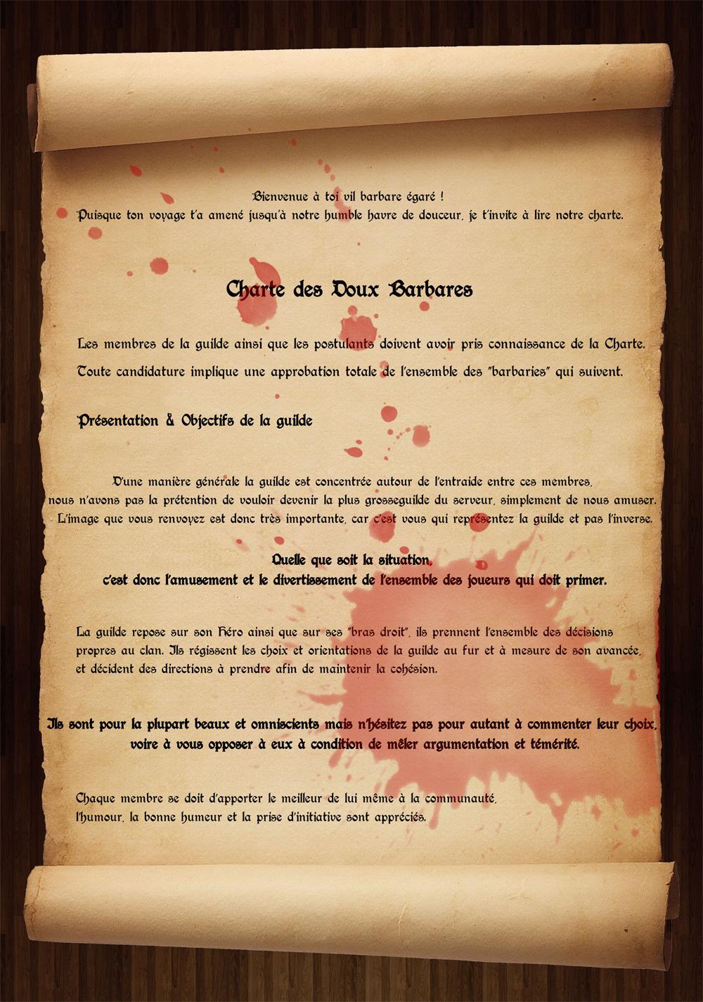 Règlement de la guilde Charte1