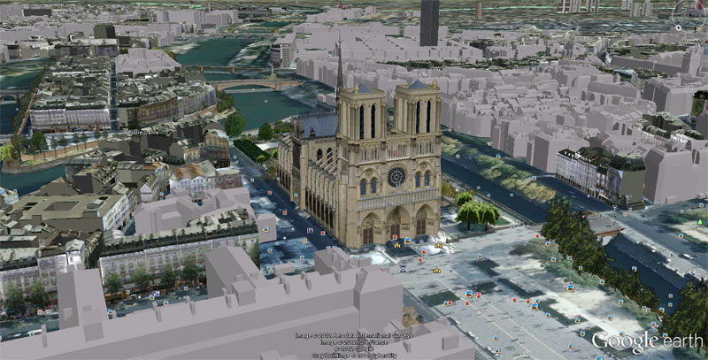 IMAGES GOOGLE EARTH Notre-dame