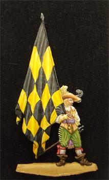 Porte drapeau guerre civile Anglaise 1642 Drapeau_350